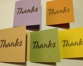 Set of 15 thank you mini cards