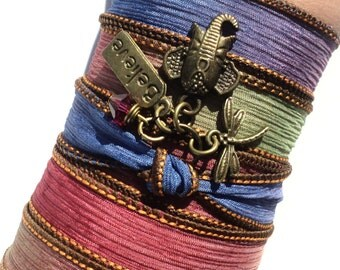 Believe Dragonfly Silk Wrap Bracelet Ganesha Yoga Jewelry Sacred Elephant Dragonfly Unique Valentines Day Gift For Her Under 50 Item J96