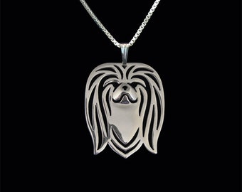 pekingese jewelry - Sterling silver pendant and necklace