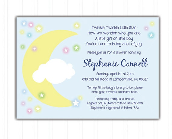 Twinkle Twinkle Little Star Baby Shower Invitations was nice invitations template