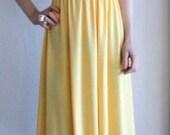 Jerells Sweetheart Buttery Lemon Yellow summer jersey dress for size M or L