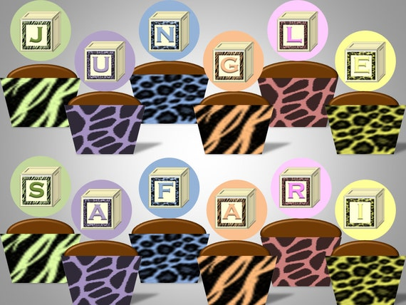 Items similar to jungle safari baby shower animal print for Animal print baby shower decoration ideas