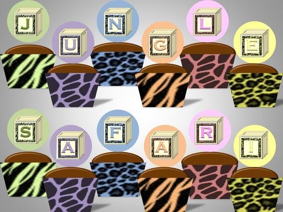 items similar to jungle safari baby shower animal print unisex