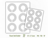 Closet Rod Dividers - Digital Collage Sheet Layered Template - (T077)