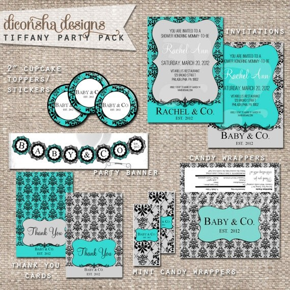 items similar to tiffany co party pack baby or bridal shower