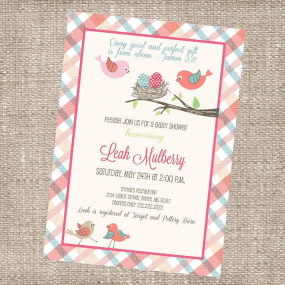 Spiritual Baby Shower Quotes: Modern Christian Baby Shower Invitation Love By