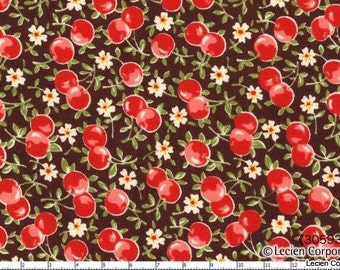 Cherries Color 80 from the Old New 30's Collection by Lecien