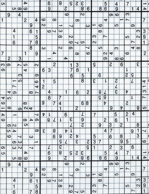 Sudoku Puzzle  from Timeless Treasures - Fat Quarter