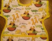 Noah's Ark toddler bib with front pocket