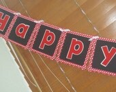Minnie Mouse Black and Red Polka Dot Banner