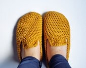 TUOHI Crochet Slippers Natural Recycled wool- Many colors available