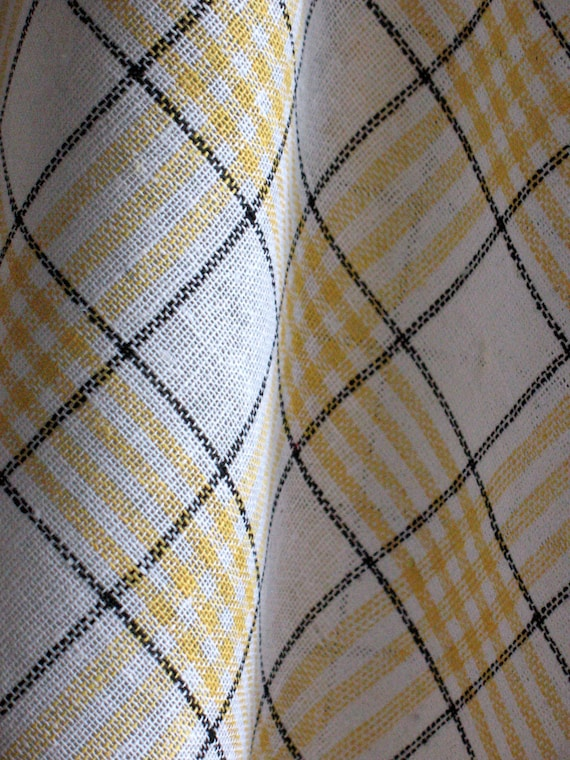 Cotton Dish Towels Yellow White - Tea Towels set of 2