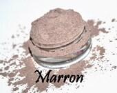 MARRON taupe nude brown loose mineral eyeshadow FULL SIZE in 5 gram jar