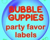 Bubble Guppies Chocolate Kiss Party Favor Labels