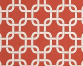 "Coral Table Runner-  Coral Chain link Table Runner- Coral and White Gotcha Placemat. 48"", 60"",72"",84"",96"" Runner or 12 x 18""Placemat."