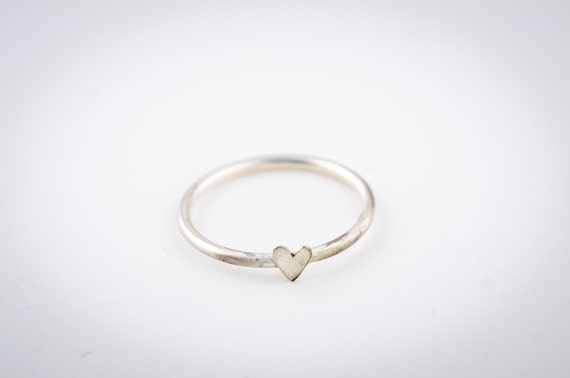 Silver Ring with Heart