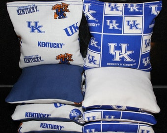 UK WILDCATS University of Kentucky Cornhole Corn Hole Bean Bags ACA Regulation Tailgate Baggo Toss Game
