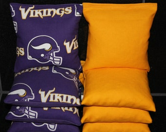 MINNESOTA VIKINGS Cornhole Bags ACA Regulation Cornhole Bean Bags Tailgate Toss