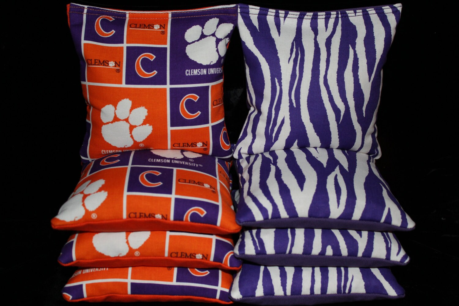 CLEMSON TIGERS Cornhole Bags 8 ACA Regulation Corn Hole Bean