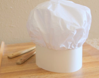 6 Paper Chef Hat for Kids / Party Favor / Baking Party