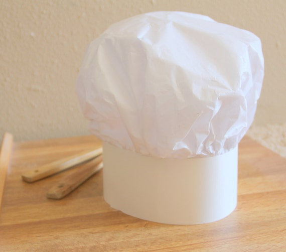 6 paper chef hat for kids    party favor    baking by