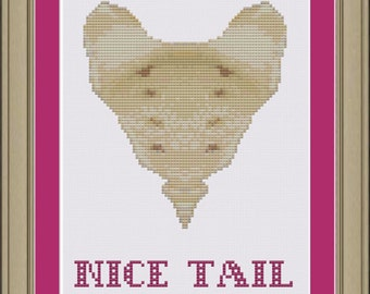 Nice tail: funny sacrum anatomy cross-stitch pattern
