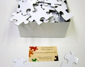 Wedding Guest Book with White Puzzle Pieces for Wedding Guest Book Alternative  Blank Puzzle Pieces Unique Wedding Guestbook