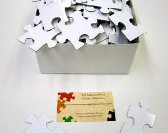 Unique Wedding Guestbook with White Puzzle Pieces for Wedding Guest Book Alternative  Blank Puzzle Pieces Unique Wedding Guestbook