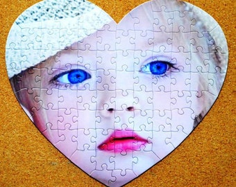 Marry Me / Unique Personalized gift / Heart Shaped Custom Jigsaw Puzzle from your most cherished memories.