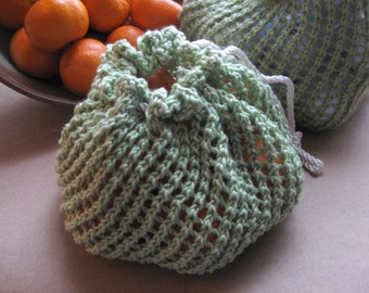 The 'Onion' Bag - PDF Knitting Pattern to Create Your Own - Instant Download - Bag Can Be Used to Hold Produce or Yarn