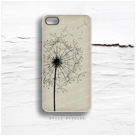iPhone 6S Case, iPhone 6S Plus Case Linen Print, iPhone 5s Case Dandelion, iPhone 6 Case, Floral iPhone Case, Linen Print iPhone Cover I45