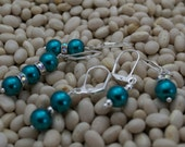 Turquoise Pearl knitting Stitch Markers