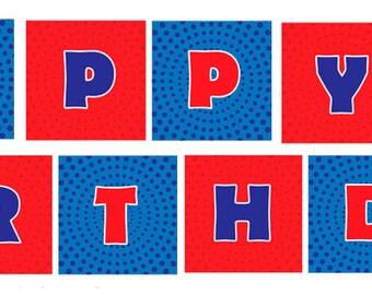 DIY Printable Superhero Birthday Banner (Instant Download)