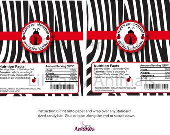 DIY Printable Ladybug Candy Bar Wrapper