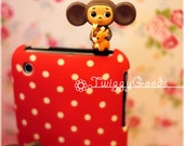 Cheburashka Hug Deer Cellphone Dust Plug. Smart Phone Dust Plug Earphone Plugs 3GS 4S 5