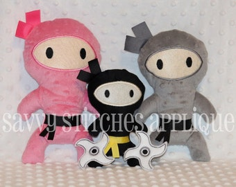 ITH Ninja Machine Embroidery Plushie Design