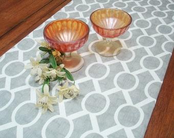 "Gray Table Runner - Wedding - Table Cloth - Decorative  Table runner   ""Sydney  Twill """
