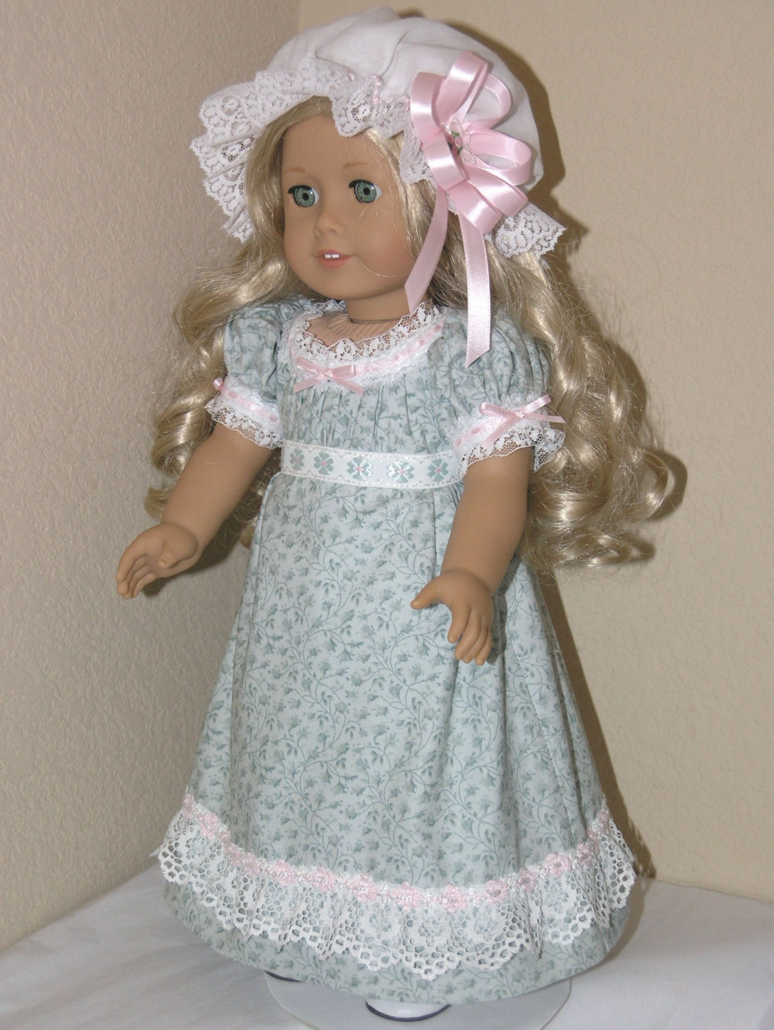 18 inch american girl doll clothes caroline 1850s dress for Garden tools for 18 inch doll