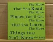 The More You Read - Wood Painted Sign