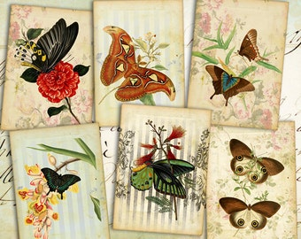 Digital collage sheet Greeting cards Digital backgrounds Jewelry holders Printable collage Paper craft Instant download - 1H