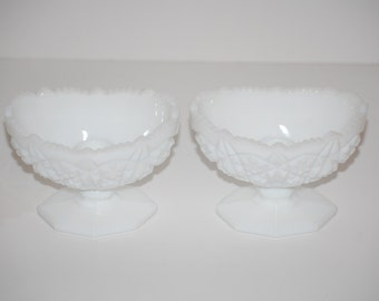 Kemple Milk Glass Candle Holders