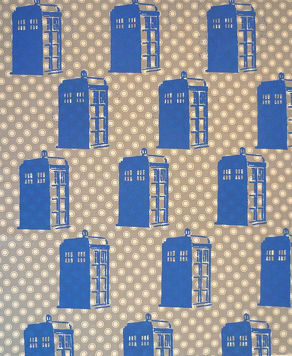 Doctor Who Tardis Screen Printed Fat Quarter