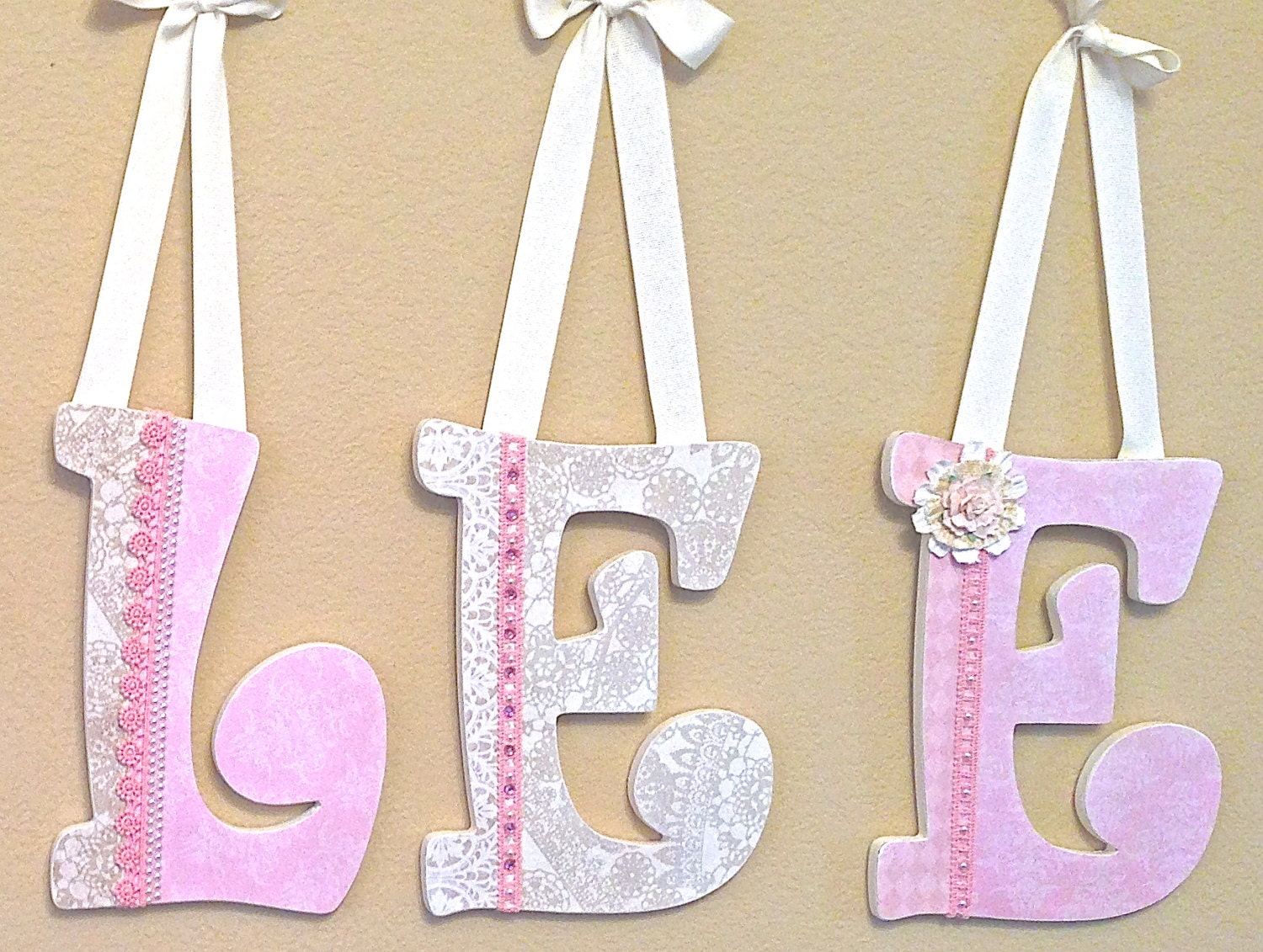 reserved listing for shopthreelittlebirds by theruggedpearl With custom nursery letters