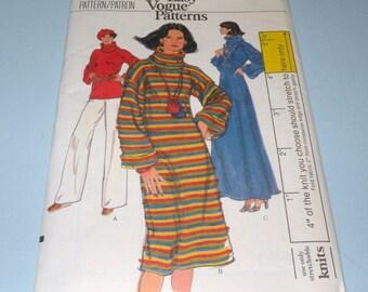 VOGUE 9550 Cowl Neck Dress Pattern size 10 UNCUT and Complete