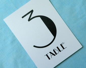 "Art Deco Table Numbers ""Bei Mir Bist Du Schön"" Set of 10"