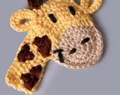 PDF Crochet Pattern File - Freddie or Lola Giraffe Applique