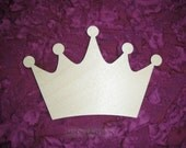 Kings Crown Unfinished Wood Cut Out Paintable Wooden Crafts Baltic Birch