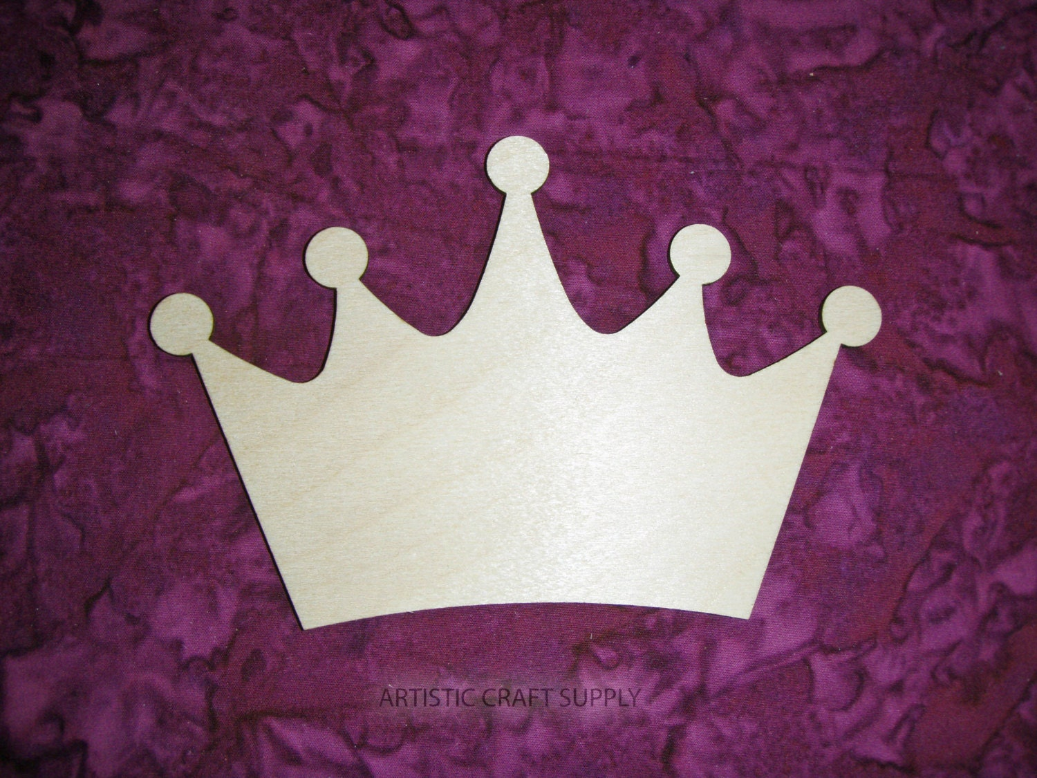 Kings Crown Unfinished Wood Cut Out by ArtisticCraftSupply on Etsy
