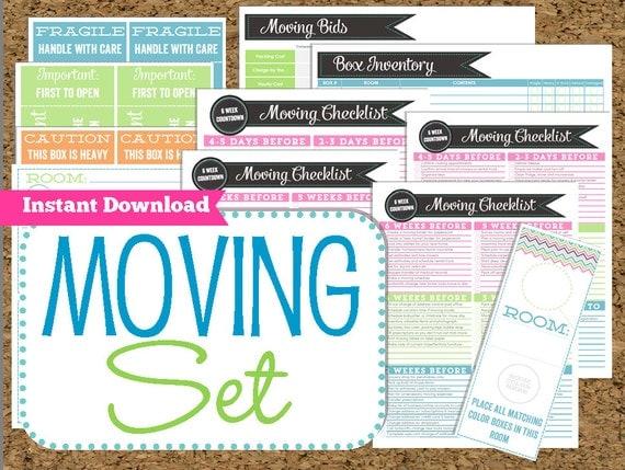 printable moving checklist
