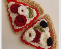 Crocheted Pizza Slices Pattern ... Instant Download